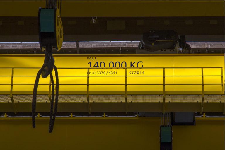 140 ton bovenloopkraan